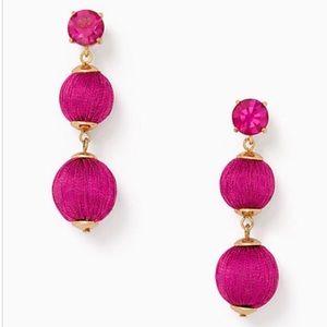 Kate Spade Linear Drop Ball Earrings, Fuchsia